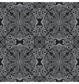 seamless black pattern with art ornament vector image