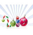Christmas balls of year 2010 vector image vector image