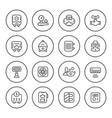 set round line icons of heating vector image