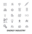 energy industry oil and gas efficiency saving vector image