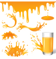 juice splashes vector image vector image