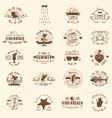 20 Summer Badges vector image