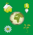 Ecology Icon Concept with Earth vector image