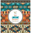 Seamless bright pattern in tribal style vector image vector image