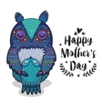 Card for Mothers Day with owls vector image