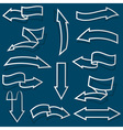 Arrows from Paper outline vector image