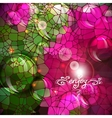 Abstract colorful shining circle background vector image