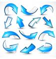 Blue arrows vector image