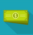 business money icon flat style vector image