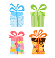 Cute gift boxes collection vector image