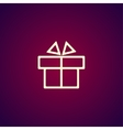 Gift box itson - icon vector image