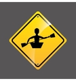 kayaking person sign sport extreme design vector image