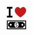 money simbol on white background vector image
