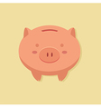 Piggy Bank in Cream Background vector image