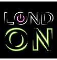 T shirt typography graphics London neon vector image