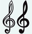 Treble clef sign vector image