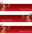 Rudolph the reindeer christmas and new year banner vector image
