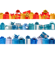 Collection of holiday banners with colorful gift vector image vector image