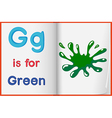 A picture of a green splash in a book vector image