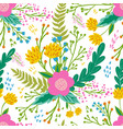 beautiful floral seamless pattern in gentle colors vector image