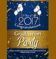 invitation to graduation party vector image vector image