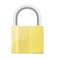 a closed padlock vector image