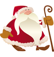 santa claus with cane cartoon vector image