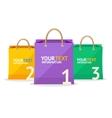paper bag sale option banner vector image
