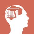 human head vector image