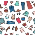 seamless pattern with woman fashion objects vector image