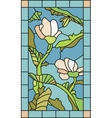 Floral Stained Glass vector image