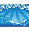 Cartoon Stormy Sea6 vector image