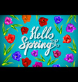 contrasting colorful floral background with floral vector image