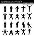 exercise and movement vector image