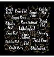 October Beer Fest Calligraphy Design vector image