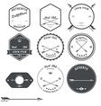 Set of vintage hunt icons emblems and labels vector image