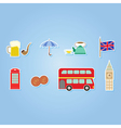 set with england icons vector image
