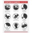 Symptoms of Diabetes icon set vector image