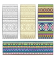 Tribal texture cards vector image