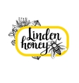 Package for honey bee Black and white graphic vector image