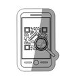 Isolated qr code and smartphone design vector image