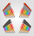 number of pencils vector image