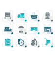 stylized logistic cargo and shipping icons vector image vector image