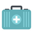 medicine flat suitcase isolated on white vector image