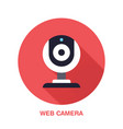 web camera flat style icon wireless technology vector image