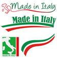 made in italy set vector image vector image