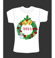 Christmas t-shirt deisgn vector image