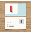 business card letter I vector image
