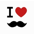 mustache simbol on white background vector image