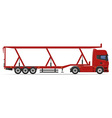 truck semi trailer 17 vector image